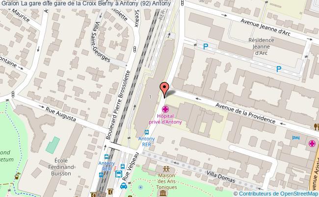 plan La Gare Dite Gare De La Croix Berny à Antony (92) Antony
