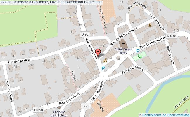 plan La Lessive à L'ancienne, Lavoir De Baerendorf Baerendorf