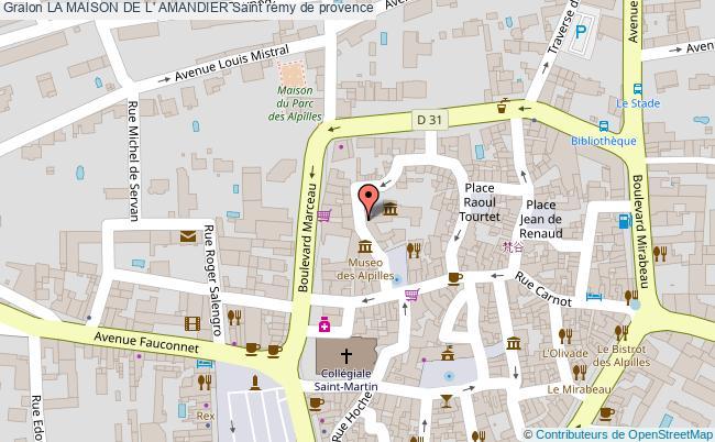 plan association La Maison De L' Amandier Saint Rémy De Provence Saint rémy de provence