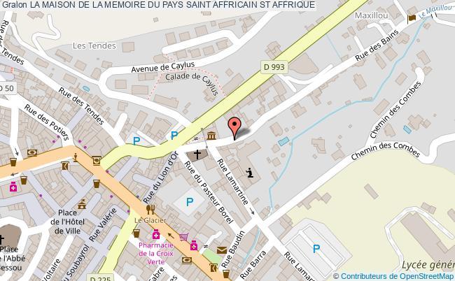 plan La Maison De La Memoire Du Pays Saint Affricain St Affrique