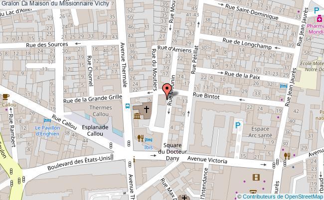 plan La Maison Du Missionnaire Vichy