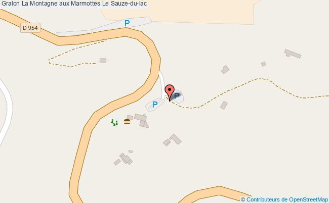 plan La Montagne Aux Marmottes Le Sauze-du-lac