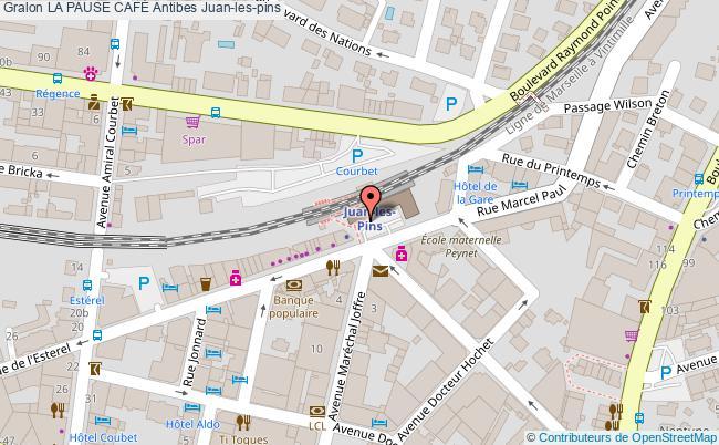 plan La Pause CafÉ Antibes Juan-les-pins