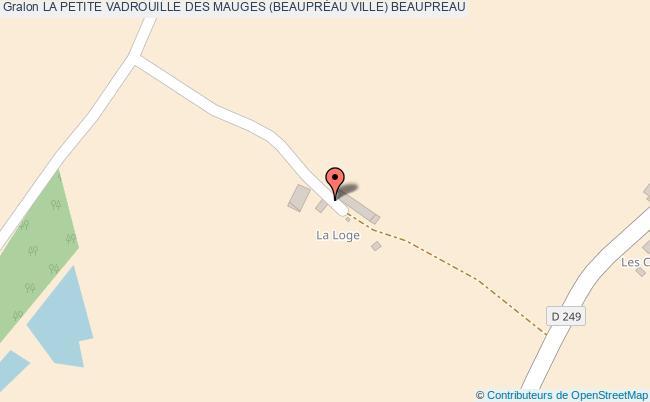 plan La Petite Vadrouille Des Mauges (beauprÉau Ville) Beaupreau