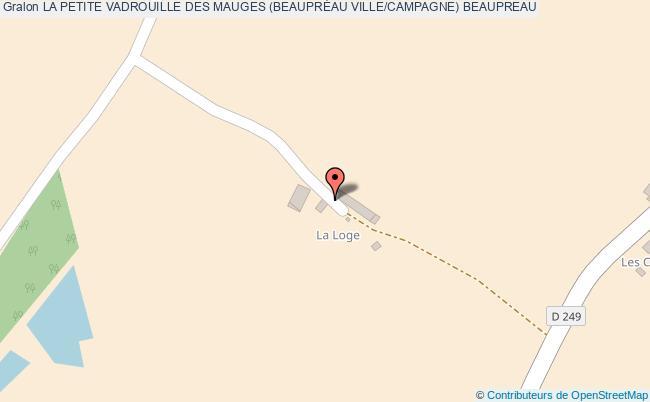 plan La Petite Vadrouille Des Mauges (beauprÉau Ville/campagne) Beaupreau
