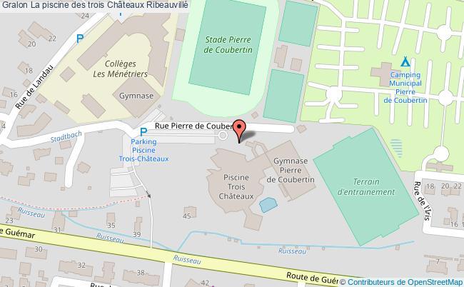 plan La Piscine Des Trois Châteaux Ribeauvillé