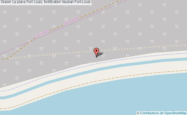 plan La Place Fort Louis, Fortification Vauban Fort-louis