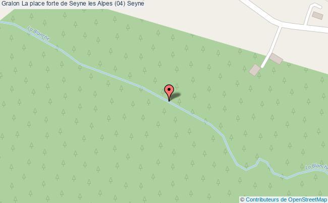 plan La Place Forte De Seyne Les Alpes (04) Seyne