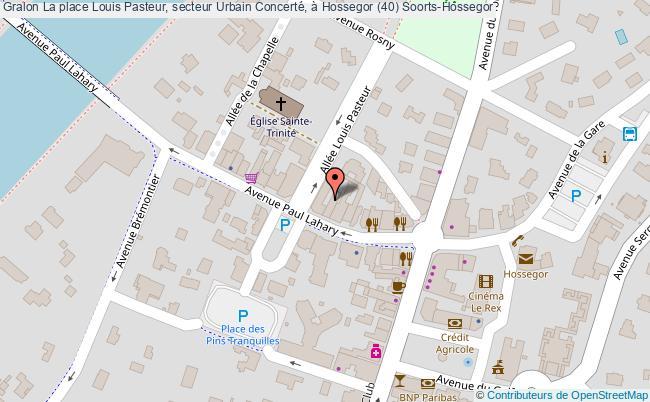 plan La Place Louis Pasteur, Secteur Urbain Concerté, à Hossegor (40) Soorts-hossegor