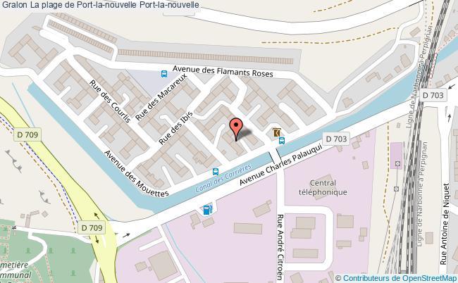 plan La Plage De Port-la-nouvelle Port-la-nouvelle