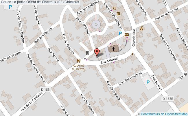 plan La Porte Orient De Charroux (03) Charroux