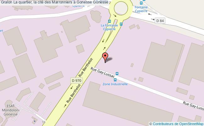 plan La Quartier, La Cité Des Marronniers à Gonesse Gonesse