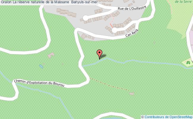plan association La Réserve Naturelle De La Massane  Banyuls-sur-mer Banyuls-sur-mer