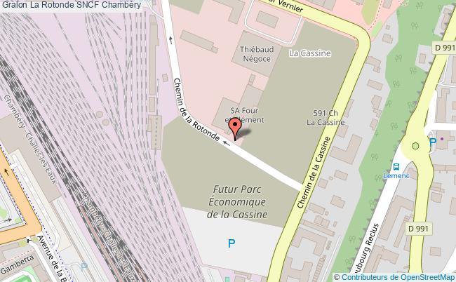plan association La Rotonde Sncf Chambéry Chambéry