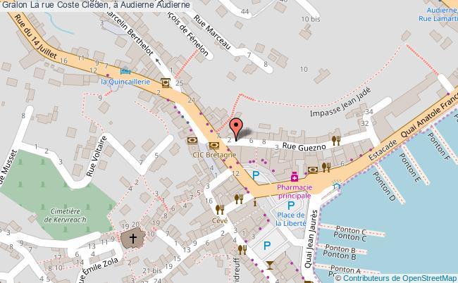 plan La Rue Coste Cléden, à Audierne Audierne