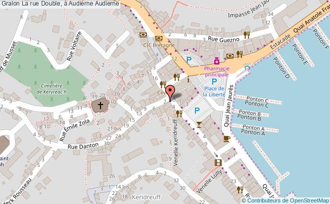 plan La Rue Double, à Audierne Audierne