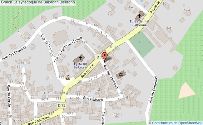 plan La Synagogue De Balbronn Balbronn