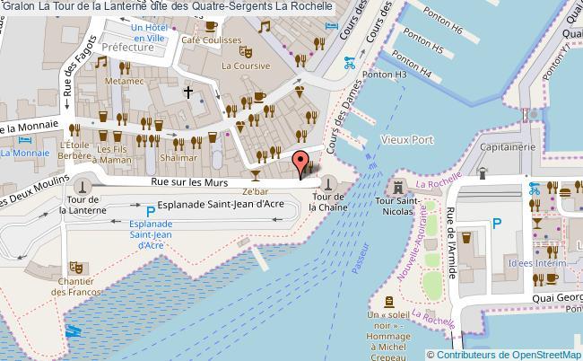 plan association La Tour De La Lanterne Dite Des Quatre-sergents La Rochelle La Rochelle