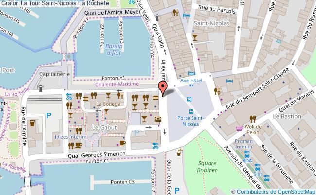 plan La Tour Saint-nicolas La Rochelle