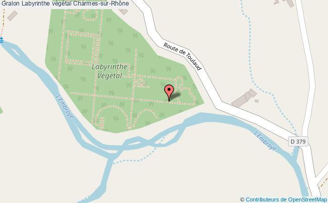 plan Labyrinthe Végétal Charmes-sur-rhône