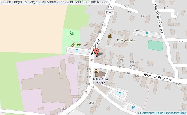 plan Labyrinthe Végétal Du Vieux-jonc Saint-andré-sur-vieux-jonc