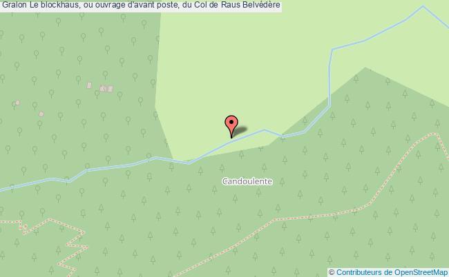 plan Le Blockhaus, Ou Ouvrage D'avant Poste, Du Col De Raus Belvédère