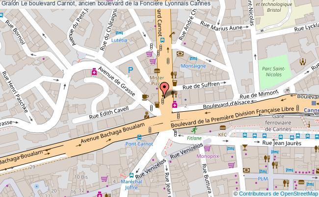 plan Le Boulevard Carnot, Ancien Boulevard De La Foncière Lyonnais Cannes
