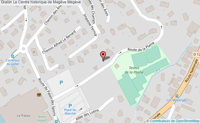 plan Le Centre Historique De Megève Megève