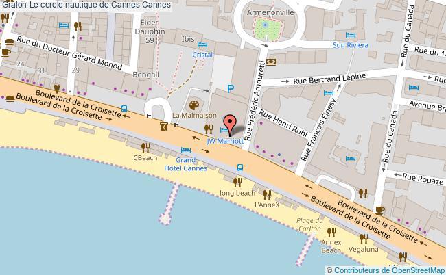 plan Le Cercle Nautique De Cannes Cannes