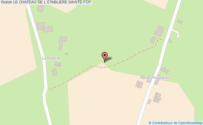 plan Le Chateau De L Etabliere Sainte-foy