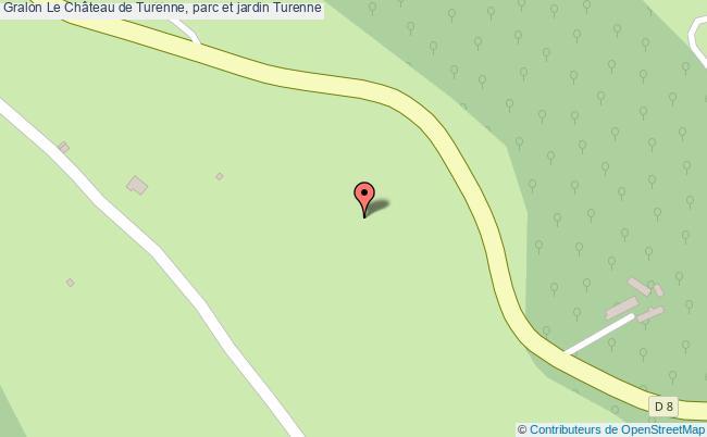plan Le Château De Turenne, Parc Et Jardin Turenne