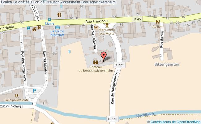 plan Le Château Fort De Breuschwickersheim Breuschwickersheim