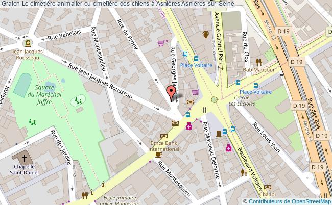 plan association Le Cimetière Animalier Ou Cimetière Des Chiens à Asnières Asnières-sur-seine Asnières-sur-Seine