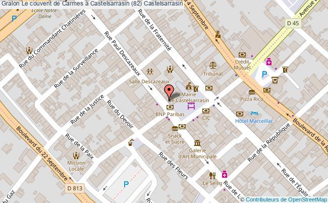 plan Le Couvent De Carmes à Castelsarrasin (82) Castelsarrasin