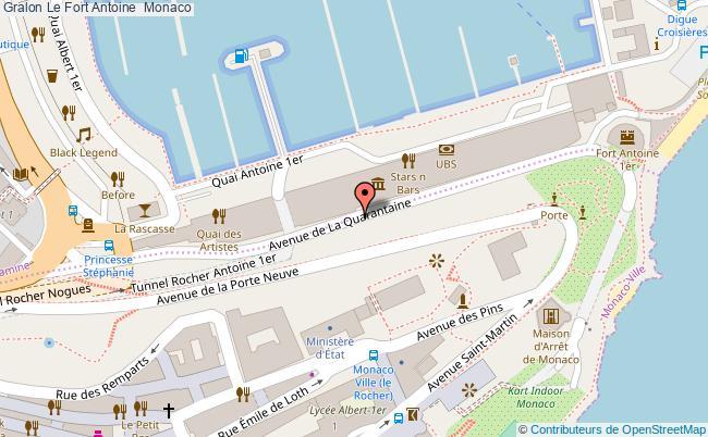 plan Le Fort Antoine  Monaco