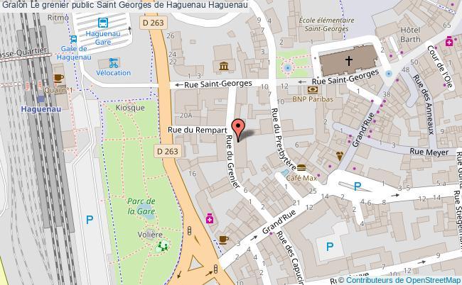 plan Le Grenier Public Saint Georges De Haguenau Haguenau