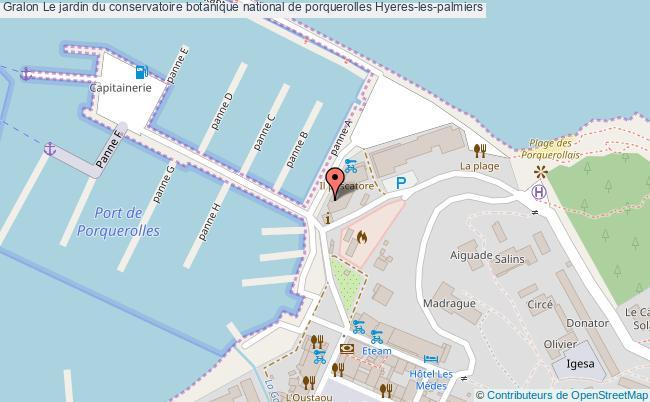 plan Le Jardin Du Conservatoire Botanique National De Porquerolles Hyeres-les-palmiers