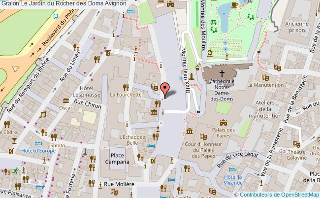 plan association Le Jardin Du Rocher Des Doms Avignon Avignon