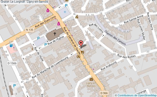 plan association Le Lorgnon  Ligny-en-barrois Ligny-en-barrois