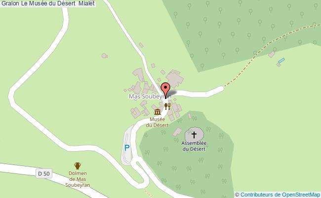 plan Le Musée Du Désert  Mialet