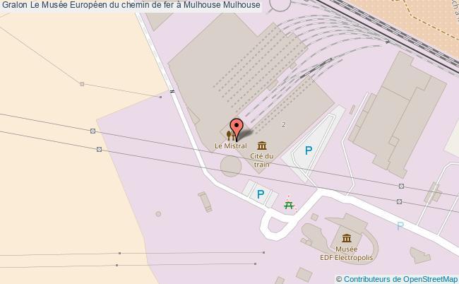plan Le Musée Européen Du Chemin De Fer à Mulhouse Mulhouse