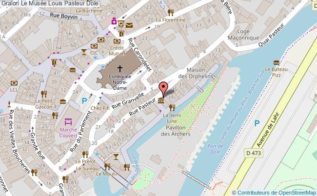 plan association Le Musée Louis Pasteur Dole Dole
