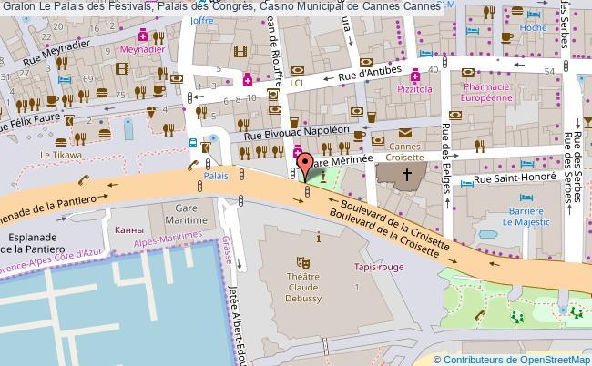 plan Le Palais Des Festivals, Palais Des Congrès, Casino Municipal De Cannes Cannes