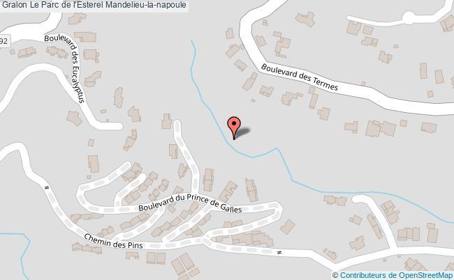 plan Le Parc De L'esterel Mandelieu-la-napoule