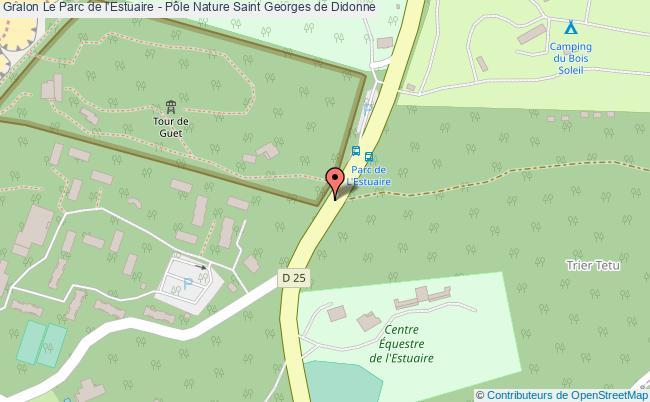 plan Le Parc De L'estuaire - Pôle Nature Saint Georges De Didonne
