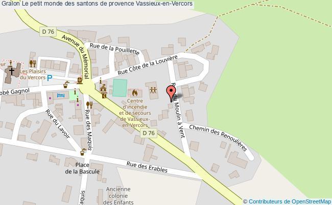 plan Le Petit Monde Des Santons De Provence Vassieux-en-vercors