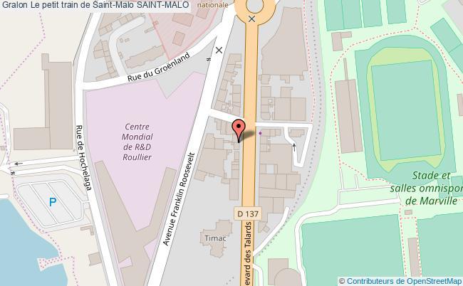 plan association Le Petit Train De Saint-malo Saint-malo SAINT-MALO