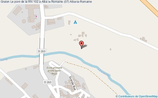 plan Le Pont De La Rn 102 à Alba La Romaine (07) Alba-la-romaine