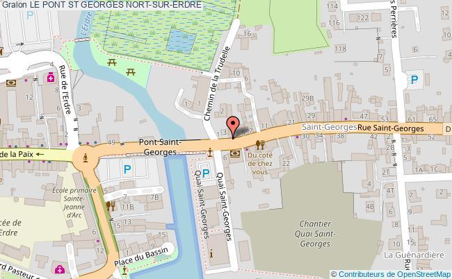 plan Le Pont St Georges Nort-sur-erdre