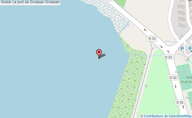 plan Le Port De Gruissan Gruissan